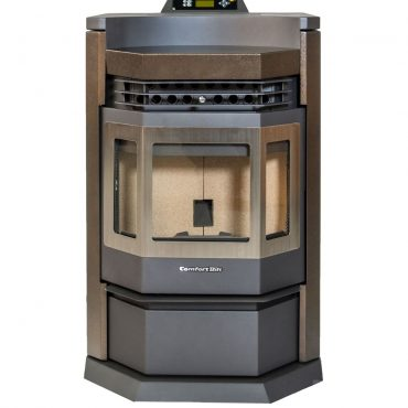 ComfortBilt HP22-N SS Pellet Stove Brown Without Fire Front View