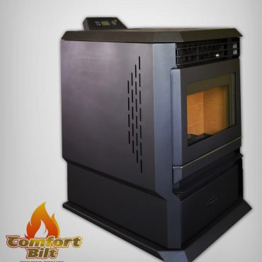 ComfortBilt HP61 Charcoal Pellet Stove Without Fire Left View