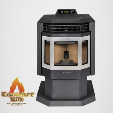 HP21-SS Pellet Stove Front View Without Fire