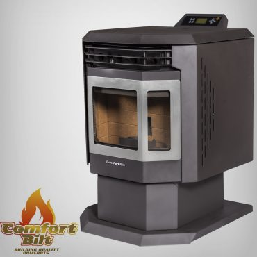 HP21-SS Pellet Stove Left Side View Without Fire